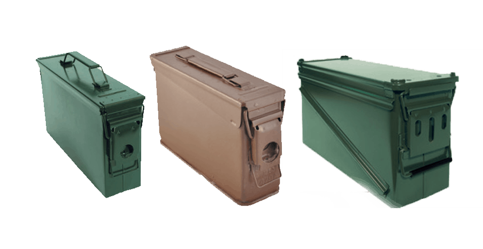 Ammo cans and ammo boxes
